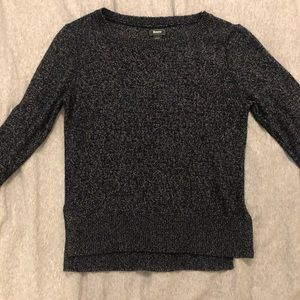 """Roots """"pepper and salt"""" black & white sweater, sm"""